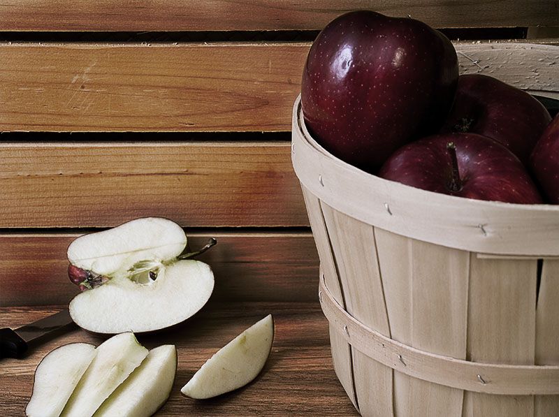 Photo of a apple basket